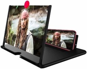 Luckjit 3D F2 Mobile Phone 3D Screen Magnifier Video Screen Amplifier Eyes Protection Stand Holder- Multicolor