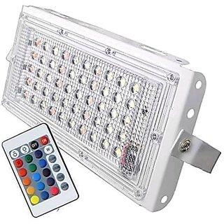 Screen Shopping Store 50 Watt 220-240V Waterproof Landscape IP66 LED Flood Light RGB Multicolour with Remote