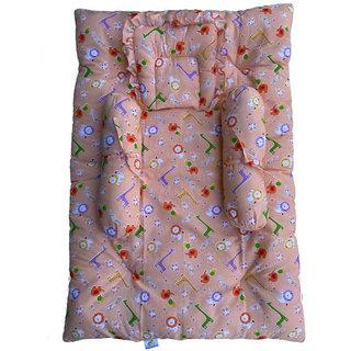 GOCHIKKO New Born Baby Soft Bedding Set(0-3 Months) (Orange)