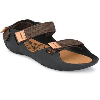 Lee Peeter Men's Velcro Brown Sandal  Floaters
