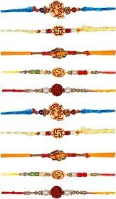 Ethnic Handmade Rakhi Set of 10