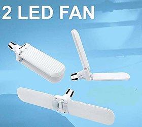 PAYKARS 20W Foldable Fan Shape 2 Leaf Blade LED Bulb B22, Adjustable Light, Indoor, OutdoorGarage LightingWhite