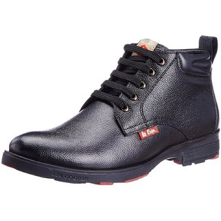 Lee Cooper Men's BLACK Leather Boots (LC9519)