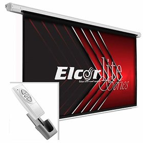 ELCOR lite Series Electric Motorized Projector Screen, 120-Inch Diagonal in 403 Format, 6ft.Height x 8ft.Width,