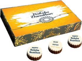 Raksha Bandhan Chocolate Gift Box  Rakhi Gift (RB F1-12Pcs)