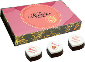 Raksha Bandhan Printed Chocolate Gift For Sister  Rakhi Gift (RB F2-12PCS)