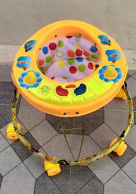 OH Baby   Walker SHAP IS APPLE WALKR FRIST CLASS PLASTIC BODY  Round Base 5 Music 3 LIGHTS for 7 Months to BABY KIDS WA