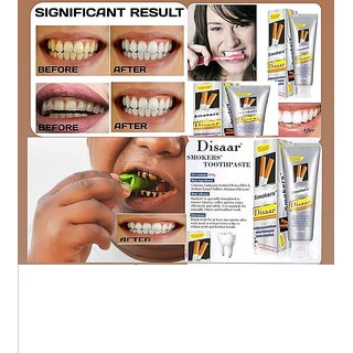 Disaar Go Smoke and Tobacco Stains Toothpaste Odor Removal Oral Problem After Cigateres 100G