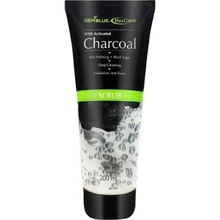 GEMBLUE Biocare Activated Charcoal Scrub - 200 ML