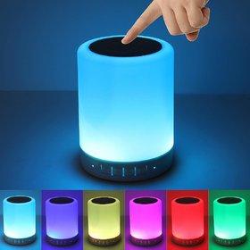 PAYKARS LED Touch Lamp Bluetooth Speaker, Wireless HiFi Speaker Light, USB Rechargeable Portable