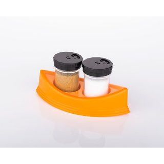Lazywindow Salt  Pepper Shakers/Masala Dabbi with Stand for Dining Table (Multicolor)