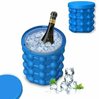 PAYKARS Silicone Ice Cube Maker  The Innovation Space Saving Ice Cube Maker  Bucket Revolutionary Space Saving