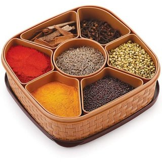 Antic Spice Plastic Container And Masala Box - 1000 ml (Set of 1)