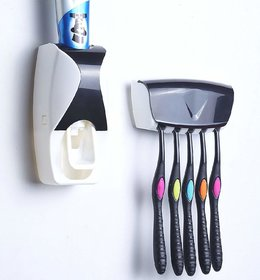 Shopper52 Automatic Plastic Wall Mounted Toothpaste Dispenser