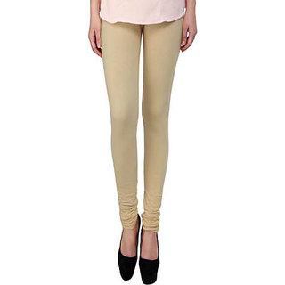 Ruby Cotton Lycra Western Wear Legging - Free Size - Beige