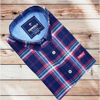 Toroly Classic Sensational Men Shirts - Navy_check_TR
