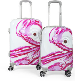 Polo Class 2Pc Trolley Bag Set (20/24 inch) - Pink