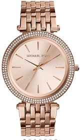 New Fashion Diamond Case Full Rose Gold Women's Watch Metal Strap For Gift