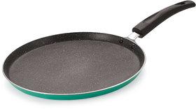 Nirlon Greenochef Granite Non stick Aluminium Gas & stovetops Friendly Flat Dosa Tawa 26cm[Color-Green]