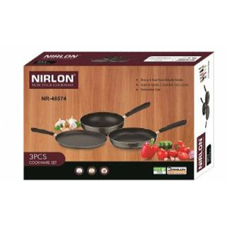 Nirlon Aluminium Non Stick Cooking Gift Set, 3 Piece