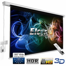 ELCOR lite Series Electric Motorized Projector Screen, 120-Inch Diagonal in 403 Format, 6ft.Height x 8ft.Width, UltraHD