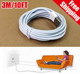 KSJ 3 meter long data cable /10 feet charging cable micro USB premium quality For Smartphones