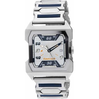 Fastrack N1474SM01 Silver Dial Party Analog Watch - For Men