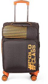 Polo Class Semi Soft Luggage Trolley Bag 24 - Coffee
