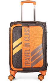 Polo Class Semi Soft Luggage Trolley Bag 28 - Coffee