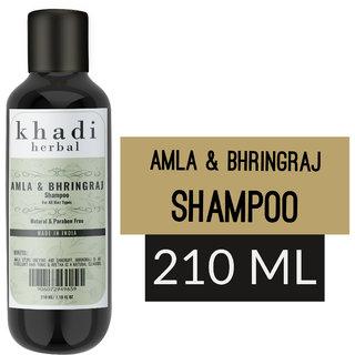 Khadi herbal Amla Bhringraj Shampoo  (210 ml)