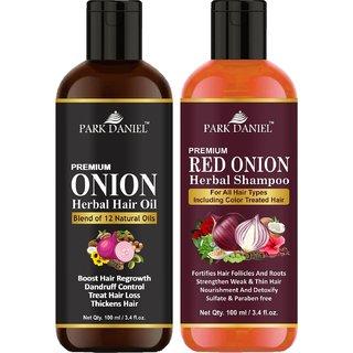 Park Daniel ONION Hair oil & Shampoo- 2 bottles 100 ml(200 ml)