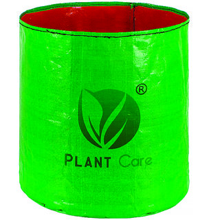 PLANT CARE HDPE Gardening Grow Bag, Nursery Cover Green Bags for Vegetables Fruits Flowers-Pack of 1 (12 in X 12 in)