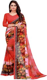 Florence Gajri Georgette Floral Print Saree with Blouse
