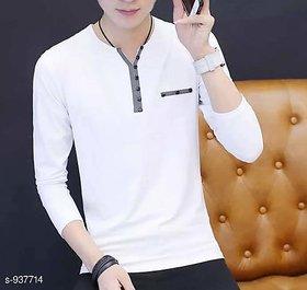 Vicky Men's White Henley T-shirt