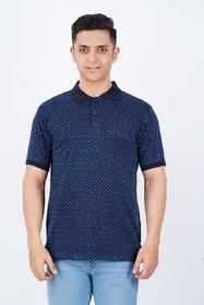 Vicky Men's Navy Polo Collar T-shirt