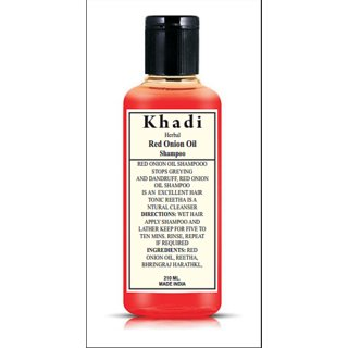 Khadi Herbal Red Onion Black Seed Oil Shampoo with Red Onion Seed Oil Extract (210 ml)