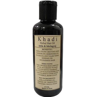 Herbal Khadi Amla  Bhringraj Hair Oil 210ml