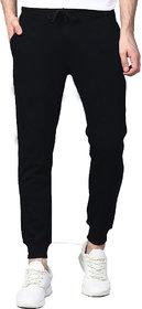 Vicky Men's Black Poly Cotton Trackpant