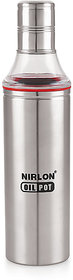Nirlon Cooking Slim Oil Dispenser With Leak ProofRust Free Pack Of 01 600Ml
