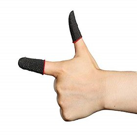 Pubg Anti-Slip Thumb Sleeve, Slip-Proof Sweat-Proof Professional Touch Screen Thumbs Finger Sleeve for Pubg (Pack of 1)