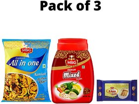 MSG Mixed Pickle 1kg (Get free All in One Namkeen 150g and Lion Glucose Biscuits 90g of Worth 52 Rs)