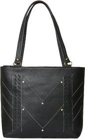 GD FASHION Women's PU Leather Black Handbag