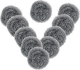 Lazywindow Stainless Steel Scrubber Pack of 10
