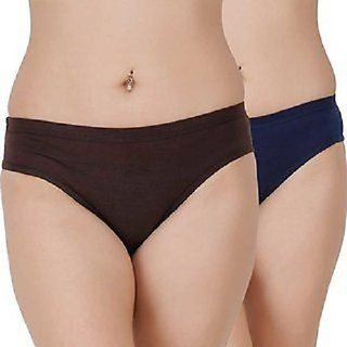 CIVIS Women Cotton Panties Pack of 2 (Assorted Color)