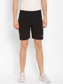 Cape Canary Men's Black Polyester Solid Mid-Rise Boxers