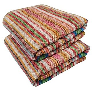 Pyaro Beach Cotton Bath Towel Set Pack Of 2 (Assorted Color)