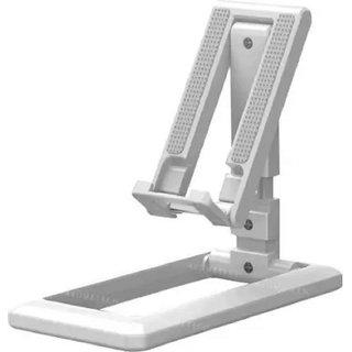 Adjustable Metal Desktop Tablet Phone Holder Stand for Mobile Phone (Desktop Support Stand, White)