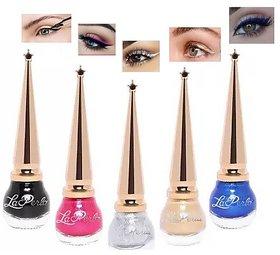 La Perla Liquid Matki Eyeliners (5.5 ml)  Set of 5