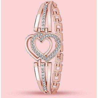 Gold Plated American Diamond Bracelet For Women