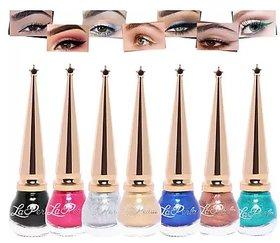 La Perla Liquid Matki Eyeliners  ( 5.5 ml ) Set of 7
